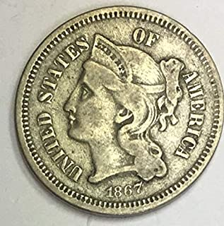 1867 nickel three cent piece