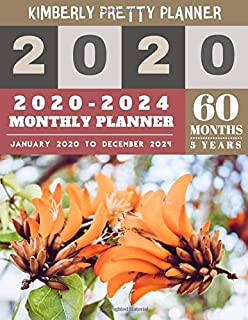 5 year planner 2020-2024: 2020-2024 Monthly Planner Calendar | 5 Year Planner for 60 Months with internet record page | Orange Orchid Design (5 year monthly planner 2020-2024)