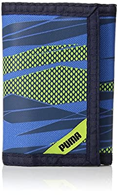 PUMA Little Kids' Rise Trifold Wallet, Navy/Green, One Size from PUMA