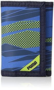 PUMA Little Kids  Rise Trifold Wallet Navy/Green One Size