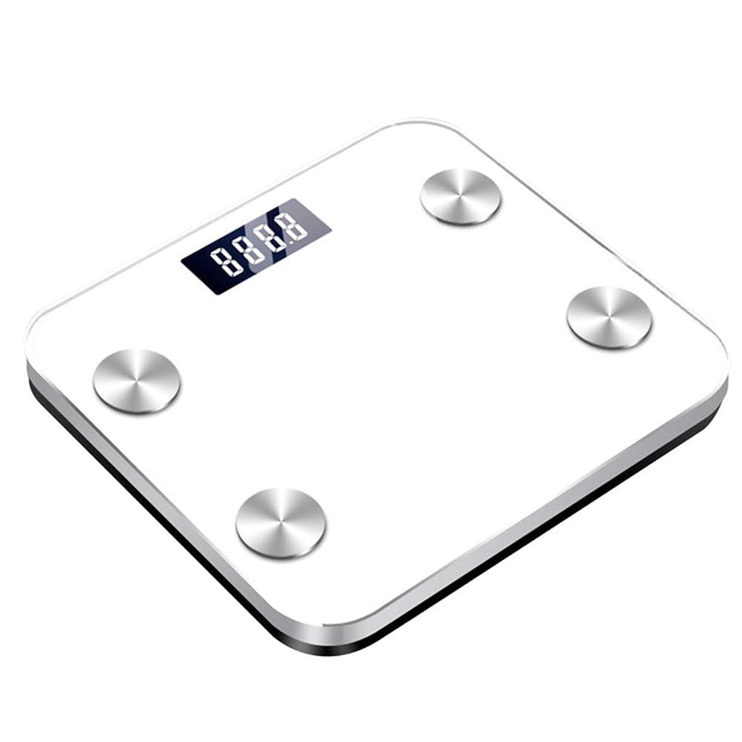 見えない活性化する敬の念健康な世帯の体重計を維持するための理性的なLEDの体脂肪のスケールの科学的で理性的な理性的な電子デジタルのスケール,白