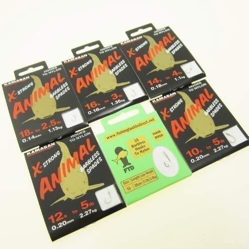 B//S Pack de 10 environ 0.45 kg 8 oz environ 226.79 g Kamasan B510 Sans Ardillon Crystal Crochets Pour Nylon Taille 20 To 1 Lb