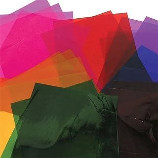 Baker Ross Láminas de Celofán de Colores Decorar (Paquete de 36) Perfectas para decorar manualidades infantiles