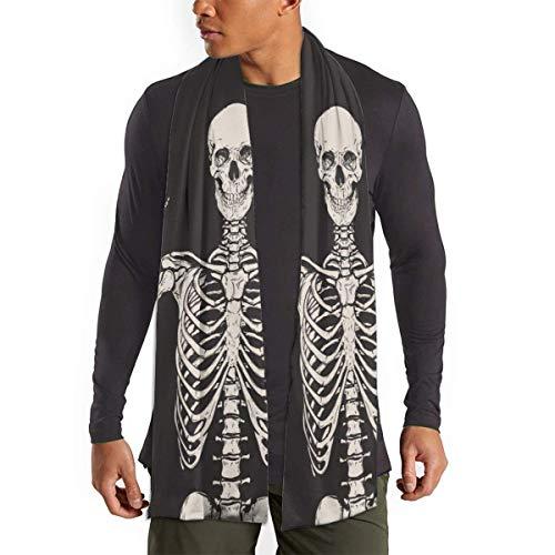 JONINOT Menschliches Skelett Posing Ja Isolierter Schal für Frauen Männer Leichte Unisex Spring Soft Winter Schals Schal Wraps