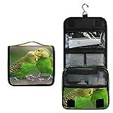 Budgie - Neceser de viaje con diseño de pájaros, para colgar cosméticos, bolsa de maquillaje, multifunción, bolsa de almacenamiento portátil para mujeres y niñas
