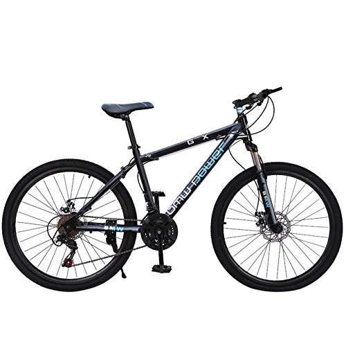 Stone Mountain 26 Inch 21-Speed Bicycle, Junior Aluminum Full Mountain Bike, Dual Disc Brakes, Full Suspension Non-Slip, Mountain Bikes for Mens, Women and Teens (Blue)