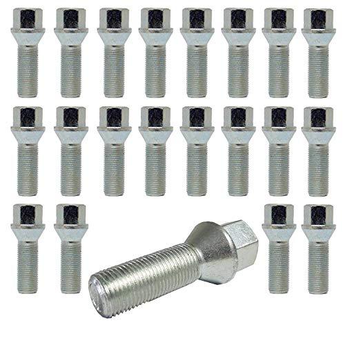 TRACER 20 tornillos de rueda M12 x 1,25 26 mm con unión cónica HEX19 AL