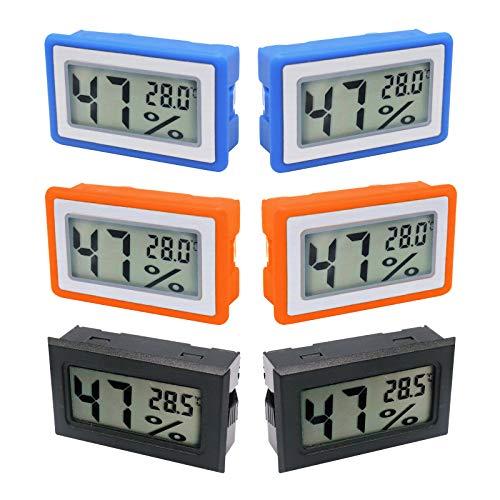 ZHITING Mini Termómetro Higrómetro Digital Interior de Temperatura y Humedad para Humidificadores, Invernaderos,Jardines,Acuario,Armarios(6Pcs