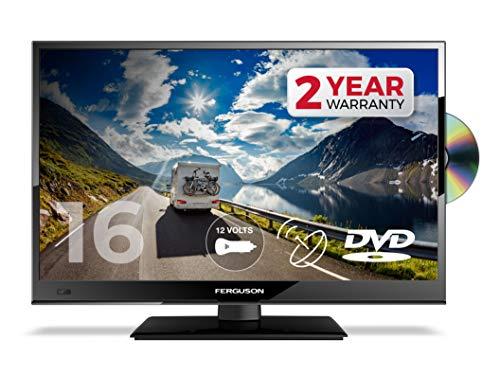 FERGUSON 16 Inch 12V LED TV DVD Freeview HD & Satellite TUNERS, 1080p, USB & HDMI - BRITISH MANUFACTURER - F16230FT2S2-12V
