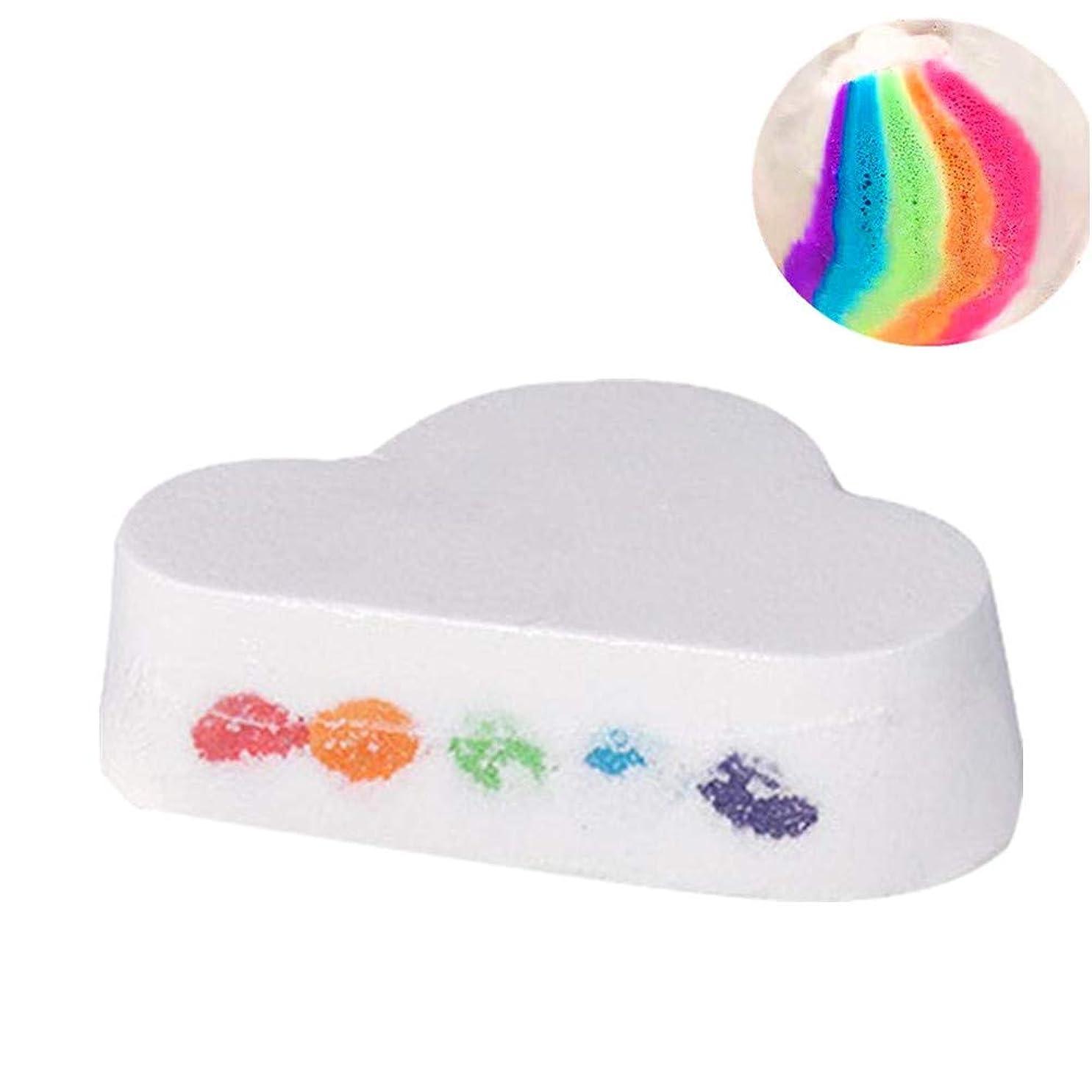 歩き回る正確ショートレインボー クラウド 入浴ボール 入浴剤 風呂泡の泡立った浮遊物 虹色 女性用保湿スキンギフト