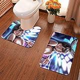 Lindsay Gosse Juego de alfombras de baño de 2 Piezas Tifa Alfombras De Baño, Juegos De Contorno para Bañera, Ducha Y Baño
