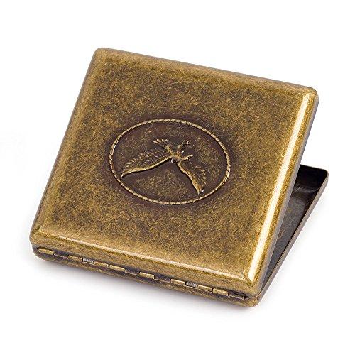 Reines Kupfer Metall Zigarettenetui Box bietet Platz für 20Zigaretten Eagle