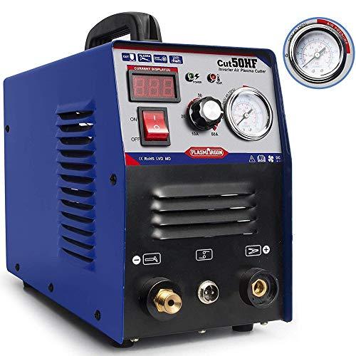 50A Air Inverter Plasma Cutter Machine - CUT50 Dual Voltage 110/220V Plasma Cutting, IGBT DC Inverter Portable Plasma Cutter Machine 1/2 Inch Clean Cut (110/220V)