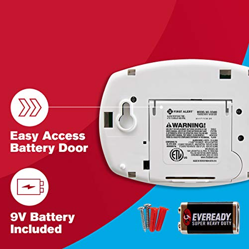 First Alert CO400 Carbon Monoxide Detector, Battery Operated