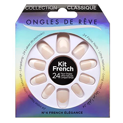 KIT FAUX ONGLES ONGLES DE REVE - N°004 FRENCH ELEGANCE