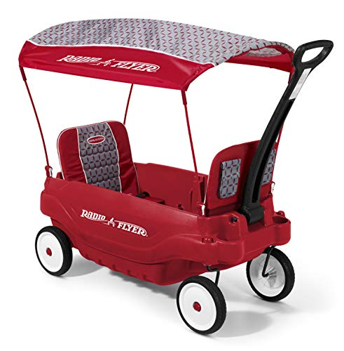 Radio Flyer 5-in-1 Family Wagon, Red