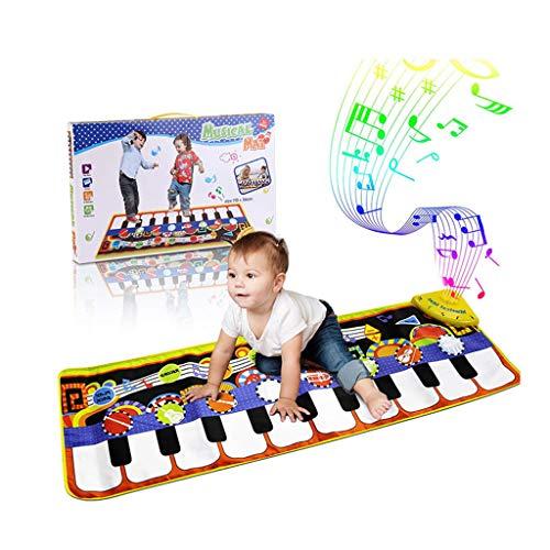 FLYM Kindertanzdecke, Musik Zu Lernen Klavier Eltern-Kind-Interaktives Spiel, Multifunktionale Fitness Elektronischer Crawling Teppich Spielzeug 43,3 * 14.2Inch