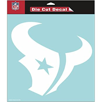 Houston Texans 8x8 White Team Logo Decal Wincraft