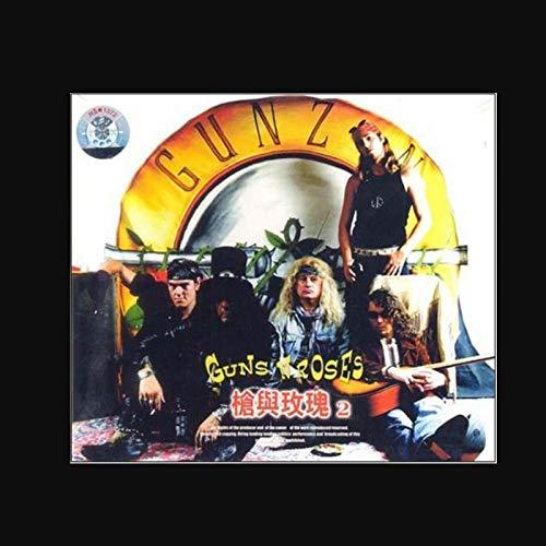 KONGQTE Guns N Roses 2 Poster Singolo Album di Musica Popolare Poster su Tela Pittura Artistica Poster Stampa Parete di casa Decorazione Soggiorno -60x60 Pollici Senza Cornice
