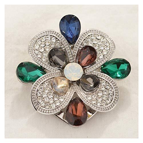 Brooch Scarf Clip Brooch Buckle Blue Pink Imitation Flower Brooch Pins Women Scarf Buckle Broches Fashion Novelty Jewellery (Metallfarbe : Hellgelb Farbe)
