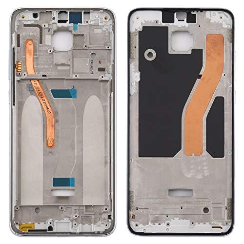 ZHANGQUAN Las Partes de Repuesto QUAN Pantalla de reparación de la Caja Repuestos Repuestos Carcasa Delantera Marco LCD Placa de Bisel para Xiaomi Redmi Note 8 Pro (Negro) (Color : White)