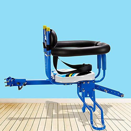 KIRA Fahrrad Kindersitz Mini Kindersitz Vordersitz Lager Gewicht 50 Kg Einstellbares Pedal Sicherheit Zwei Farben Optional Geeignet Für Mountainbikes, Falträder (8 Monate - 6 Jahre)