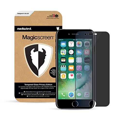 MediaDevil Pellicola Protettiva per iPhone 8 e iPhone 7 - in Vetro Temperato Filtro Privacy - (1-Pezzo)