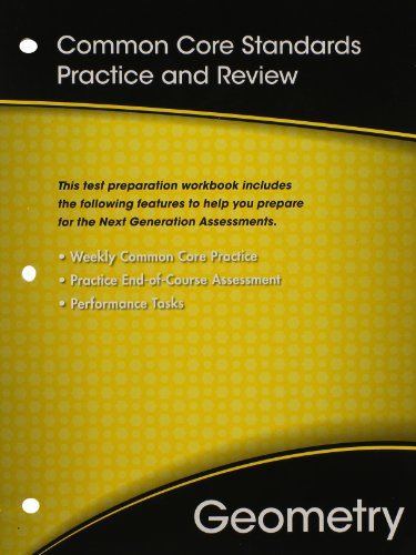 HIGH SCHOOL MATH COMMON-CORE GEOMETRY TEST PREP WORKBOOK GRADE 9/10
