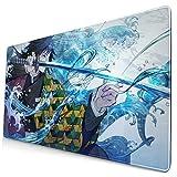 Giyuu Tomioka Katana Anime De-mon Slayer Kimetsu No Yaiba 15.8x29.5 in Large Gaming Mouse Pad Desk Mat Long Non-Slip Rubber Stitched Edges
