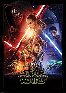 Pyramid International Star Wars Episode VII The Force Awakens One Sheet Mural Giant Poster 55x39 inch