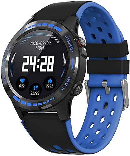 X&Z-XAOY Reloj Inteligente con GPS para Hombre Rastreador De Actividad Deportiva Reloj De Pulsera Pulsera De Brújula Fitnesstracker Impermeable Bandas De Smartwatch (Color : Blue)