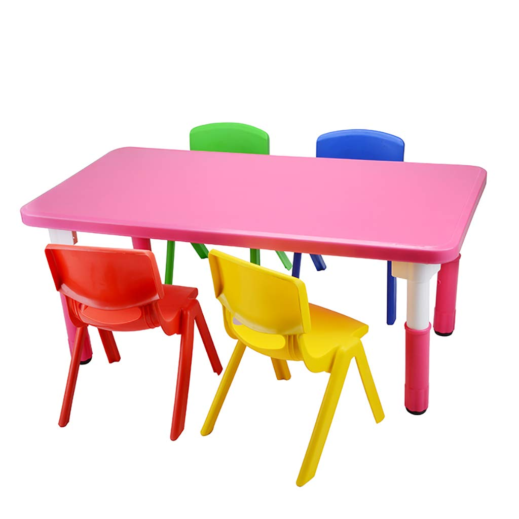 ZY Childrens study table and chair Juego de Mesa de Actividades para niños, Juego de Mesa de Madera para Dibujar, Juego de niños/Mesa de Dibujo, Mesa de Escritorio para Juegos Infantiles: Amazon.es: