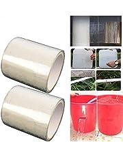 2pcs Cinta Impermeable, PVC Reparación de Fugas Cinta Autoadhesiva, Herramienta de Fijación para Emergencia Pipa Plumbing y Tubo de Agua Fugas, Cables Eléctricos(transparente)