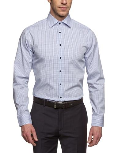 Seidensticker Herren Business Hemd Tailored Fit, Blau (blau 13), 37