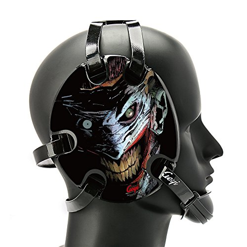 Geyi Wrestling Headgear with The Joker Decals (Black)