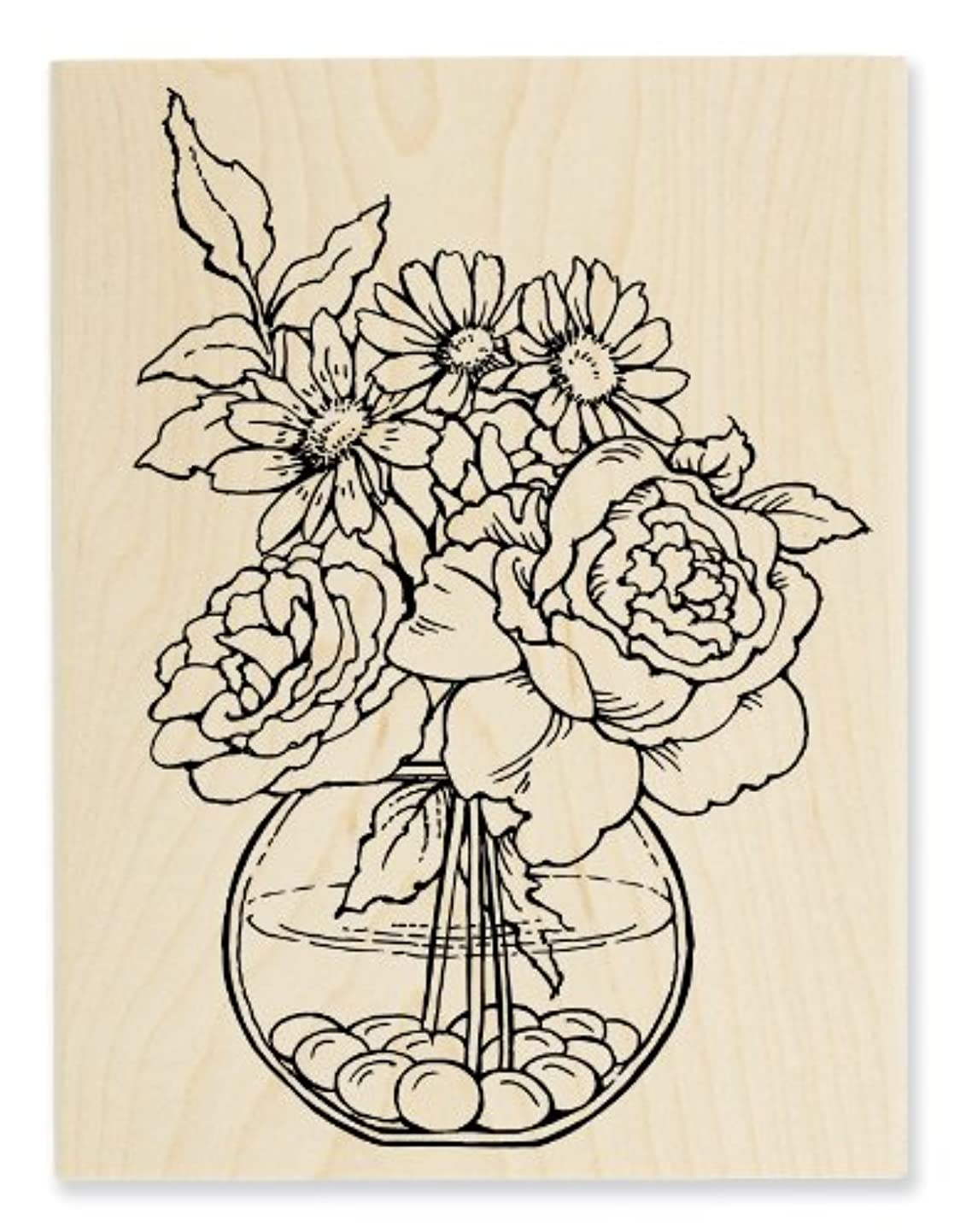 STAMPENDOUS Wood Handle Stamp, Bowl Bouquet qstubccrqaj5