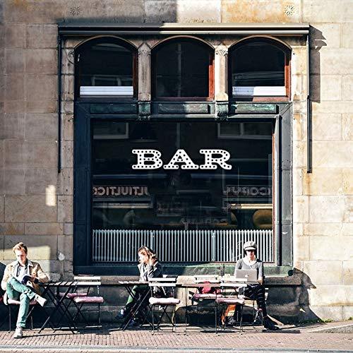 fancj Bar Festzelt Wandaufkleber Hochzeiten RestaurantsHome Bars Barwagen Küche Bar Zeichen Wort Vinyl Wandtattoo Home Decor