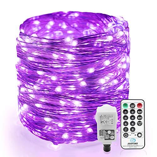 200er LED UV Shwarzlicht LED, Lichterkette Strom Dimmar, 20M UV Licht LED, Lichterkette Innen, 8 Modi Fairy Lights mit Fernbedienung & EU Stecker, Partybeleuchtung für Party Karneval Bar Club Disco