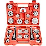 Dainty Reposicionador de pistón de freno, universal, 21 piezas, herramientas para coche, juego de pinzas de freno, pistón, retroceso, herramientas de reparación de frenos.