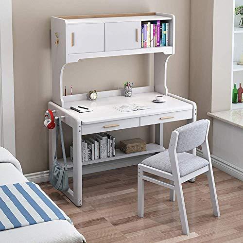N/Z Täglicher Geräteschreibtisch Schüler-Lernpult Computertisch Kinder rsquo; s Media Desk- und Stuhl-Set - am besten für 6 7- und 8-Jährige (Farbe: Weiß Größe: 80X60X7CM)