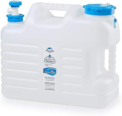 Kentop Bidón de agua para camping, 12 L/10 L, con grifo de ...