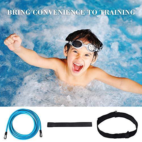 POLARHAWK Swimming Training Elastic Rope Professional Swim Belts for Adults and Kids Swim 4M, Blue