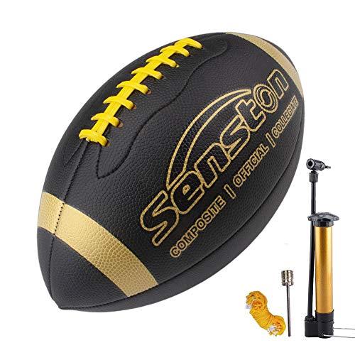 Senston American Football Size 9 Unisex-Youth Strapazierfähiges Komposit-Leder Sanfte Berührung Football Ball