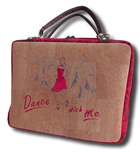 Handtasche bestickte Korktasche Schuhtasche Tasche Tanzen