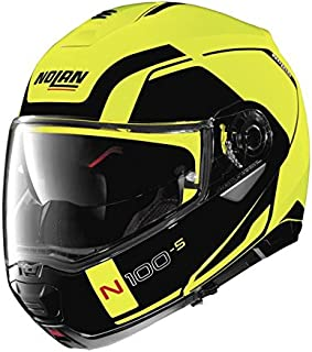 Nolan N100-5 Motorcycle Helmet Consistency Yellow Medium