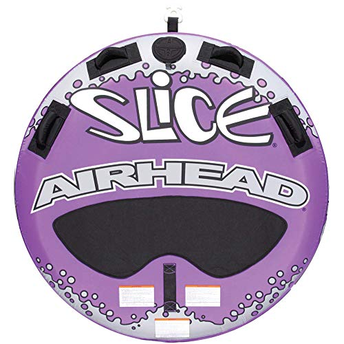 Airhead Slice | 1-2 Rider Towable Tube for Boating, Purple and Black (AHSL-4W)
