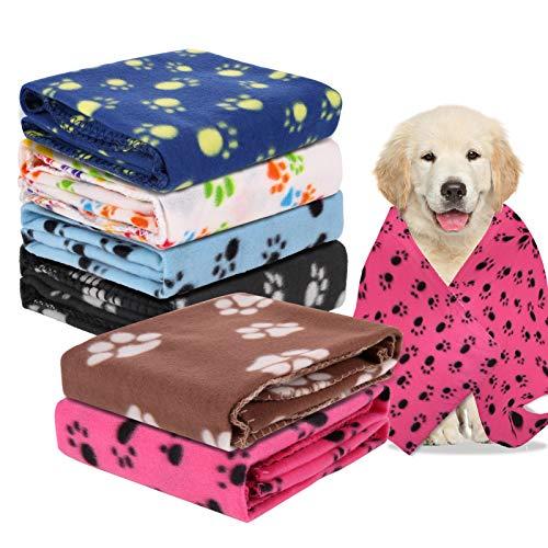 Metagio - Coperta per cane e gatto, 6 pezzi, per animali da compagnia, di grandi dimensioni, cuscino caldo e morbido, 100 x 70 cm