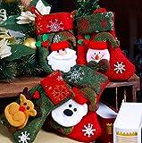 Good Sister Media de Navidad, Calcetin de Decoraciones de Navidad Santa Claus Muñeco de Nieve Copo de Nieve Decoración del árbol de Navidad Fiesta