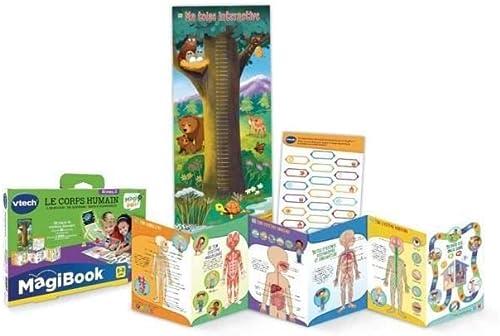 VTech - Livre MagiBook - Le corps humain, compatible MagiPen, livre éducatif – Version FR