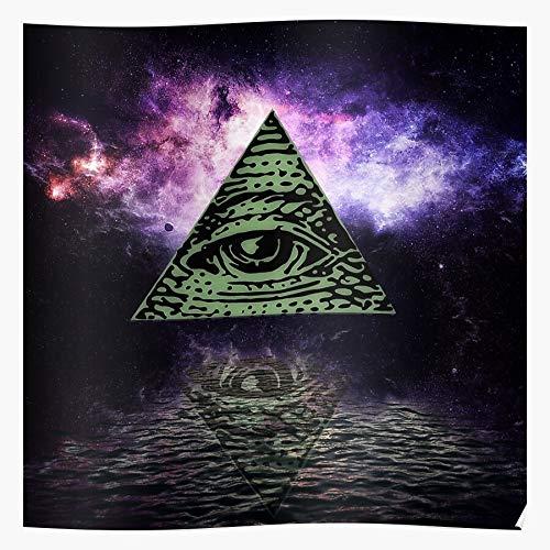 Generic Background Seeing Illuminated Vector Eye All Abstract Illuminati Light Home Decor Wandkunst drucken Poster !